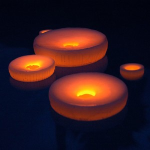 "Floating Flameless LED Pool Candles 8"" diameter (Quantity discount 24 or more call)"