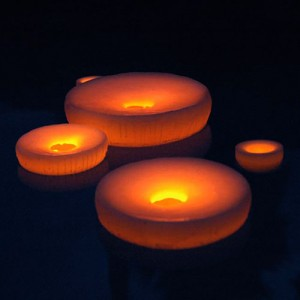 """Reusable Floating Pool Candles 8"""" Diameter (Quantity discount 24 or more call)"""