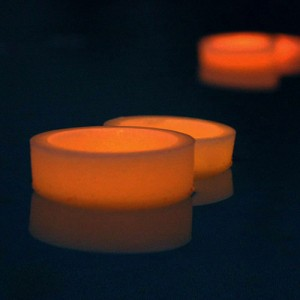 "Floating Flameless LED Candles 3"" diameter (as low as $3.97)"
